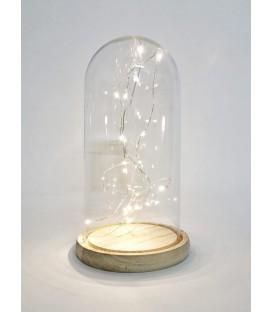 Cupola sticla mare cu led 12x25