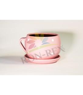 Cana ceramica mica roz