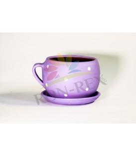 Cana ceramica mica lila