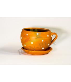 Cana ceramica mica portocalie