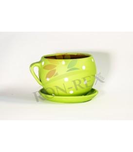 Cana ceramica mica verde