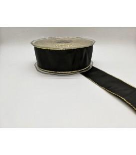 Rola textila neagra mare 4 cm