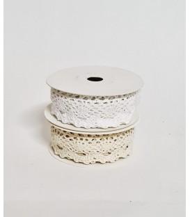 Rola dantela bumbac cu banda adeziva 2.3/2m
