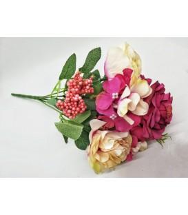 Buchet trandafir si hortenise