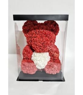 Urs trandafiri de spuma 40 cm